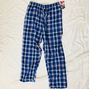Plaid pajama bottoms